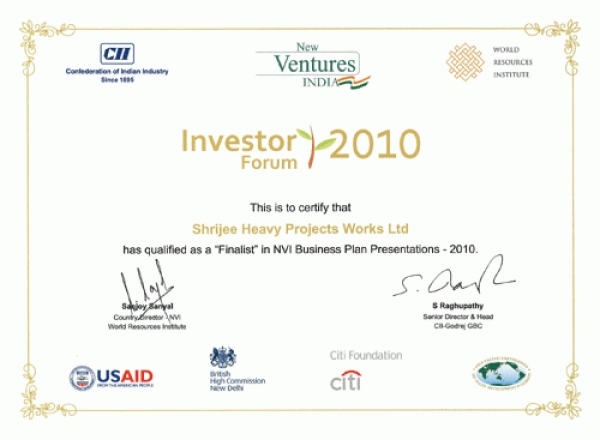 New Ventures India for the year 2010