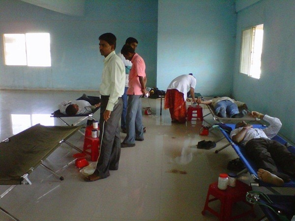 Blood was donated for Arpan Blood Bank, Ahmednagar