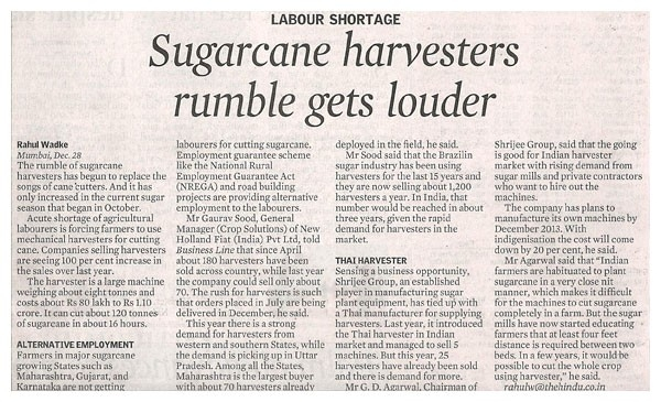 Newspaper Business Line mentioned Shrijee Group
